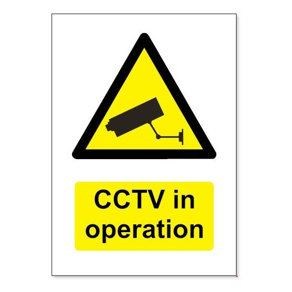 A4 Cctv Sign That Is Screen Printed For Durability And