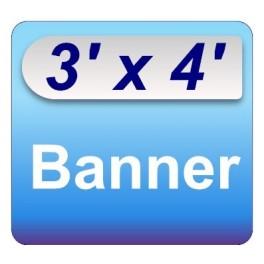 3' x 4' Banner
