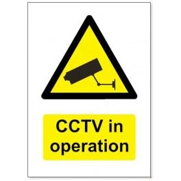5mm Plastic CCTV Sign A4 Size