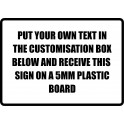 A3 Custom Plastic Sign Template 1