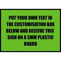 A3 Custom Plastic Sign Template 2