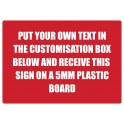 A3 Custom Plastic Sign Template 4