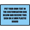 A4 Custom Plastic Sign Template 5