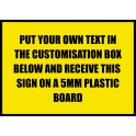 A3 Custom Plastic Sign Template 6