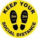 Social Distancing Floor Stickers 25cm Non Slip