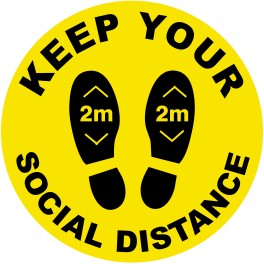 Social Distancing Floor Stickers 25cm Non Slip