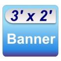 3' x 2' Banner