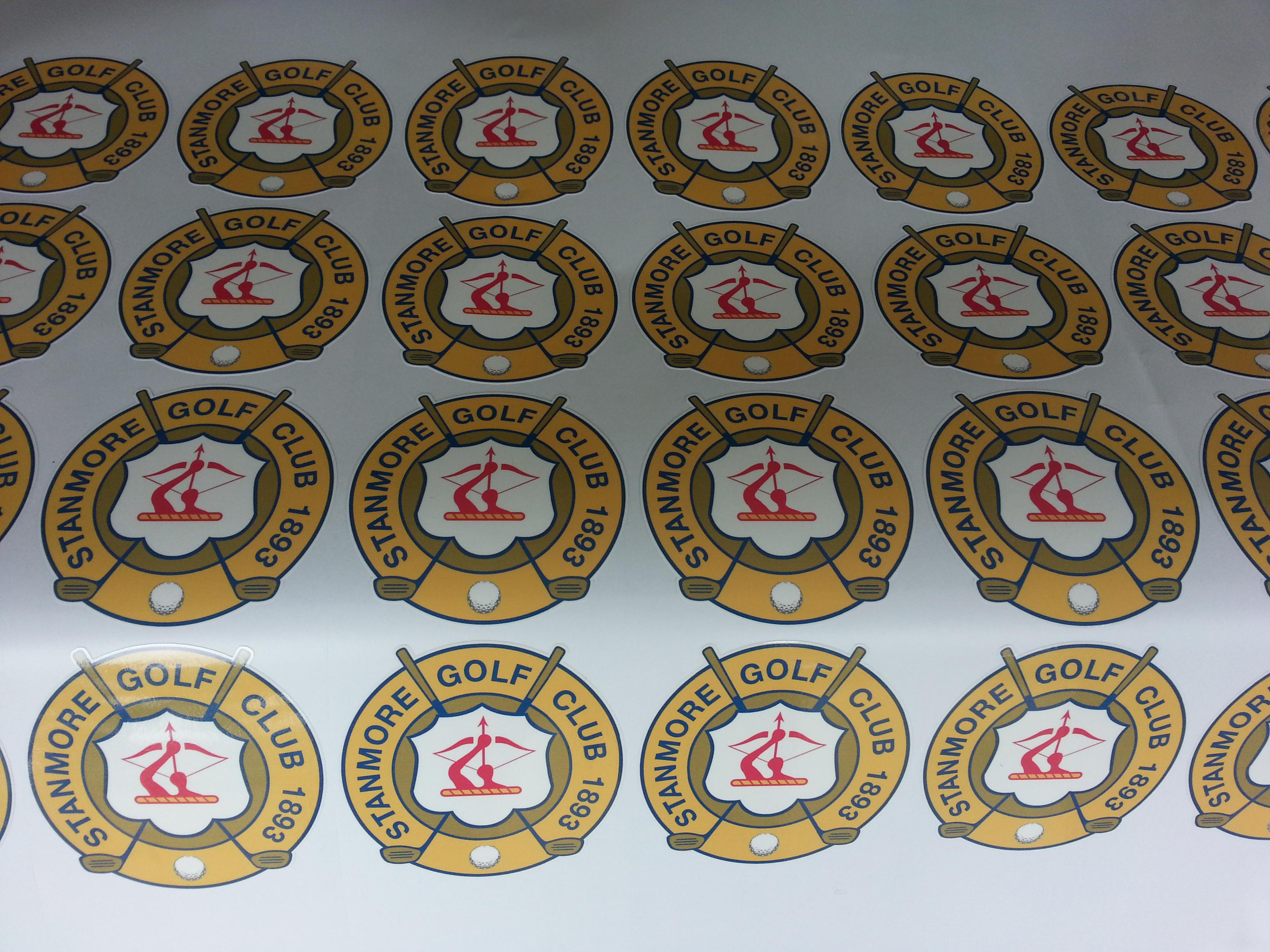 Golf club stickers