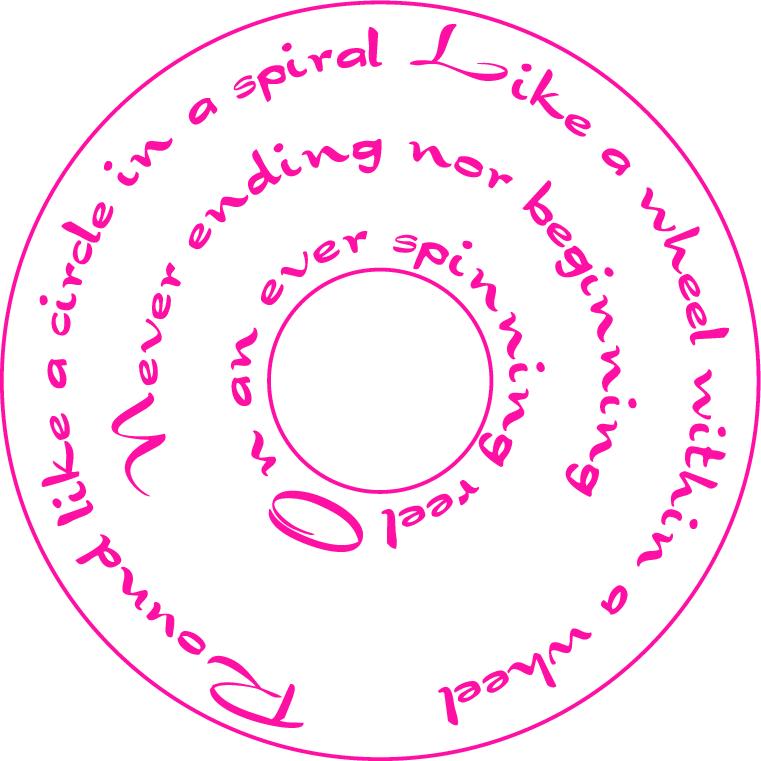 circular lettering
