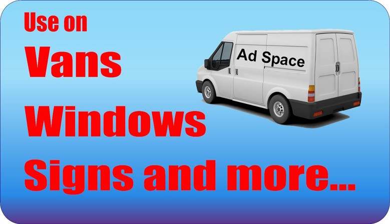 Use on vans, windows, etc.